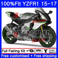 Wholesale yamaha r1 white green for sale - Group buy Injection Bodys For YAMAHA YZF YZFR1 Green white stock HM YZF R YZF R1 YZF1000 YZF R1 Fairing kit