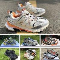 topuk spor ayakkabıları toptan satış-2019 En Kaliteli Parça 3.0 Tess Paris Gomma Meille sarı düşük topuk 3 M Spor Ayakkabı Mens Womens Tasarımcı Sneakers Koşu Ayakkabıları Boyutu 36-45