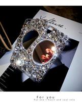 iphone shell diamond red al por mayor-Espejo con diamantes de imitación Apple X, carcasa del teléfono móvil, personalidad femenina, creativo, bricolaje, nuevo vivo, lujo, red, diamante lleno