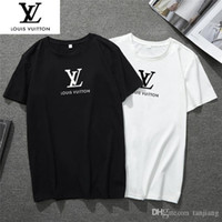 medusa tshirt großhandel-Europa Freizeit Männer T-Shirt Kontrast T-Shirt Mode Medusa Mens Designer Kurzarm G8Louis Vuitton
