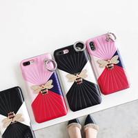yo llamo fundas de cuero al por mayor-Diseñador de lujo de cuero caja del teléfono para iPhone X XS 10 8 7 6S 6 Plus I Phone 8plus contraportada Coque Fashion Cases 1 unid