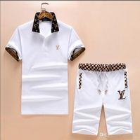 calças brancas ternos homens venda por atacado-Desgaste dos homens designer de esportes terno preto e branco calças com letras etiqueta terno casual correndo moda terno cair