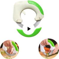 cuchillo para moldear pasteles al por mayor-Multifuncional de Acero Inoxidable En Forma Redonda Rodante Cuchillo de Cocina Pizza Carne Torta Cortador de Verduras Herramienta de Cocina