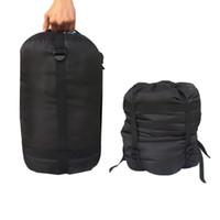 su geçirmez kamp depolama çantaları toptan satış-Su geçirmez Sıkıştırma Sayfalar Çuval Kuru Hafif Açık Yürüyüş Kamp Yürüyüş Dağcılık Için Uyku Tulumu Saklama paketi MMA1880