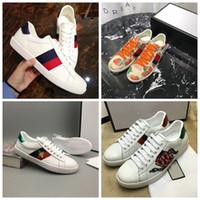 neue schuhe spitze großhandel-Luxus Designer Biene Schuhe Männer Frauen Neue Luxus Designer Sneaker Lace-up Outdoor Schuh Mode Frauen Casual Designer Schuhe Mit Box