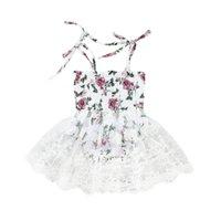 bebek kızı gelinlik rahat toptan satış-Emmababy 2019 Yeni Marka Çiçek Kız Prenses Elbise Çocuk Bebek Parti Düğün Günlük Elbiseler Giysileri
