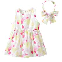 7570ae1f4b Baby Girls Pink Sweet Heart Dress Kids Dresses For Girls Baby Girl Summer  Floral Clothes Kid Princess Dress For 80-120cm