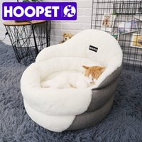 Wholesale white hand statue for sale - Group buy HOOPET Hand Wash Fiber Dog Bed Winter Warm Pet Heated House Small Puppy Kennel for Cats Sleeping Bag Nest Y200330