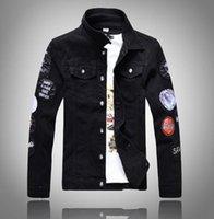 nuevos estilos clásicos de primavera al por mayor-2017 nuevo estilo de los hombres clásicos de mezclilla negro prendas de vestir exteriores de los hombres chaqueta de mezclilla corta pantalones vaqueros de moda otoño primavera chaquetas capa delgada