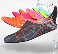 botas rapidas al por mayor-Transpirables y cómodos calcetines de buceo de secado rápido zapatos de bota de buceo antideslizantes Calcetines de buceo Deportes acuáticos Calcetines de playa aletas flexibles