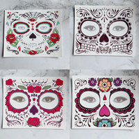 Wholesale eyes makup resale online - Disposable Eyeshadow Sticker Magic Eye Face Lace Style Waterproof Temporary Tattoo For Beauty Cosmetic Makup Stage Halloween Party RRA1105