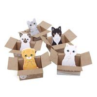 sevimli korece yapışkan notlar toptan satış-Kore versiyonu Karton sevimli karton kedi Okul ve ofis malzemeleri Kompakt not defteri yapışkan not   N kez yayın   not gönderildi Hediye