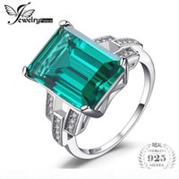 Wholesale emerald wedding band rings resale online - JewelryPalace ct Created Emerald Wedding Bands Ring Sterling Silver Fine Jewelry Women Fashion Classic Ring Gift
