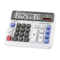 Wholesale new solar battery resale online - New Large Computer Electronic Calculator Counter Solar Battery Power Digit Display Multi functional Big Button Calculators