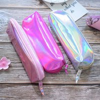 Wholesale magic zipper resale online - Dream Magic Cool Case Super Shiny PU Laser Cosmetic Bag High Quality Convenient To Take To Traval And Office Drop Shipping