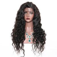 insan dantel peruk malezya toptan satış-Kıvırcık İnsan Saç Dantel Ön Peruk Ağartılmış Knot Malezya Saç Preplucked Afro-amerikan Için Kıvırcık 360 Tam Dantel Peruk