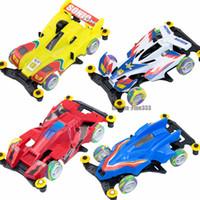 f1 coches juguetes al por mayor-RC Racing Car MINI-4WD Mini F1 Formula Racing ToyS Niños Modelos Regalo para niños