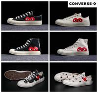 schuhe große augen großhandel-2019 70er Jahre Canvas Skate Schuhe Originals Klassiker 1970 Canvas Schuhe gemeinsam Name CDG Play Big Eyes Skateboard Casual Sneakers 5-10