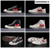 étoiles de patinage achat en gros de-2019 converse all stars white nouvelles chaussures de skate en toile des années 1970 Originals classiques chaussures en toile de 1970 se nommant conjointement CDG Play Big Eyes