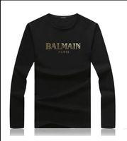 ingrosso magliette di mens lycra-2019 New French Paris designer mens camicie a maniche lunghe T-shirt Stampa a caldo stampa di marca Magliette Top abbigliamento donna di design