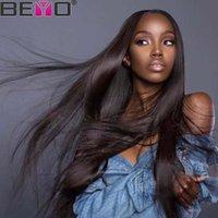 malezya bakire insan dolu dantel peruk toptan satış-Düz 360 Tam Dantel İnsan Saç Peruk Perulu Peruk Siyah Kadınlar Için Tam Dantel Ham Bakire Hint Saç Brezilyalı Saç Malezya Remy Beyo