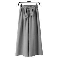 large ceinture verte achat en gros de-Pantalon ample large pour femmes, taille haute, nœud papillon, ceinture, pantalon long maximum pour le Palais Palazzo (code moyen, vert armée)