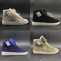 x xx al por mayor-Nueva marca White x WMNS Blazers Mid Rebel XX Zapatos para correr para hombre Blanco para mujer Diseñador de moda Zapatos Zapatillas de deporte al aire libre