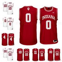 camisetas de baloncesto cosidas a medida al por mayor-Custom NCAA Indiana Hoosiers College Basketball Hoosiers # 4 Romeo Langford # 0 10 Robert Phinisee 11 Thomas Cualquier nombre Número Punto de Jersey