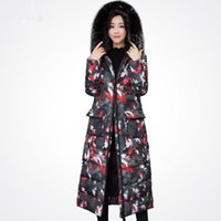 abrigos de chaqueta de vestir coreano al por mayor-2017 Real New completa bolsillos de la chaqueta de la cremallera gruesa Ucrania Parka invierno de las mujeres capa del algodón del vestido largo de la cazadora de Corea del engrosamiento