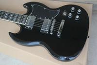 guitarra 24 al por mayor-Guitarra eléctrica SG cuerpo negro producto cruzado 24 productos de rayos 22 productos están disponibles