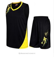 uniformes do basquetebol do jérsei venda por atacado-Camisola De Basquete Conjuntos Uniformes Masculino Sports Vestuário Respirável Juventude Treinamento De Basquete Jerseys Shorts
