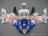 ingrosso yamaha r1 fiat-3Gifts New Hot sales bike Kit carene per YAMAHA YZF-R1 1998 1999 r1 98 99 YZF1000 Cool blu rosso FIAT