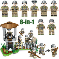 Wholesale military bricks toys for sale - Group buy WW2 World War II German Army Iron Front Battle Military Building Block Brick Soldiers Toy Assembly Figure
