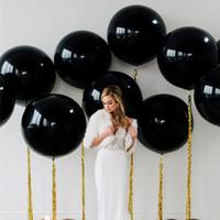 ingrosso decorazioni di nozze bianche in oro nero-5pcs 36inch Gaint Balloon 90cm oro rosa bianco nero rotondo palloncini in lattice matrimonio nuziale doccia festa di compleanno palloncino decorazione