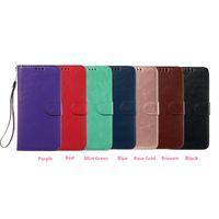 iphone geldbeutelhalter großhandel-Crazy Horse Leder Brieftasche für iPhone 5,8 6,1 6,5 2019 New iPhone XS MAX X XR XS 8 7 6 5 SE 5S ID-Kartensteckplatz Pocket Holder Purse Pouch