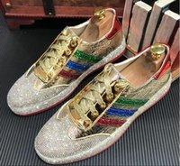 club nocturno zapatos hombres al por mayor-Zapatos de moda de cuero brillante para hombres de nuevo estilo zapatos de cuero para taladro acuático club nocturno juvenil tendencia para hombres 39 44 G4.7