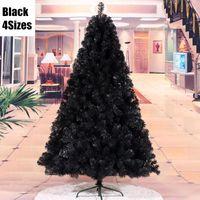 enfeites de metal preto venda por atacado-4 tamanhos de suspensão Decoração arvore de natal Flocos de neve Decoração de Natal Preto Enfeites De Natal ornamentos MCC261-271