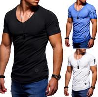 erkek bluz gömlekleri toptan satış-Erkekler T-Shirt Ince erkek Kısa Pamuk Dibe Bluzlar Giyim T Shirt Hip Hop Erkek Tasarımcı T Shirt