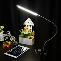 abrazadera de luz ajustable al por mayor-10w Clamp Clip Light 36 Leds 10 niveles de brillo Ajustable 3 colores de iluminación Usb Led mesa de la lámpara de lectura Q190601