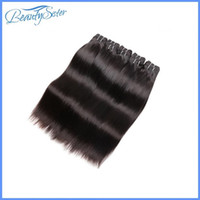 çince saç örgüsü uzantıları toptan satış-Çin xuchang saç fabrika toptan 8a brezilyalı bakire saç düz demetleri 1 kg 20 adetgrup 100% İnsan saç uzantıları siyah örgüleri