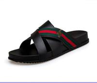 sapata verde do deslizador venda por atacado-Marca de aparência, sandálias de designer de flip-flops de fita verde vermelho verde, sandálias de designer, designer de slides, sapatos de grife, chinelos de praia G7.19