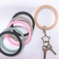 Wholesale new product key resale online - New Trend Silicone Bangle Key Ring Wrist Keychain Bracelet Round Key Rings Large O Cute Keyring Hot Products