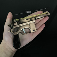 Wholesale counter strike guns for sale - Group buy PUBG CS GO CF Keychain Mausers C96 Pistol Gun Counter Strike Game Cross Fire AK AWM K Keyring Key Chain Ring
