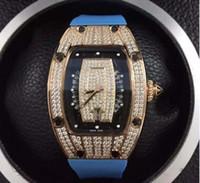marcas suizas relojes deportivos al por mayor-Reloj de lujo para mujer. Marca suiza. Oro rosa. RM07. Fecha Diamantes. Cristal de zafiro.