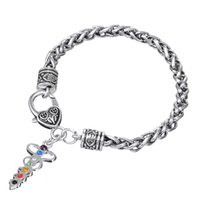 metal kalp şeklinde kolye toptan satış-BC11 yeni liste elmas tıbbi yılan sembol kolye kalp şeklinde elmas şerit damla yağ kolye metal bilezik