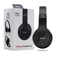 écouteurs bluetooth achat en gros de-ZZYD P47 Casque sans fil Bluetooth Casque de jeu Prise en charge de la musique stéréo Carte TF Bandeau pliable Casque Sur-oreille DHL