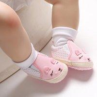 einzelschuhboden großhandel-Freies Verschiffen! Einzelne Schuhe des rosafarbenen / grauen Babys 2019 Großverkauf! Frühling Karikaturprinzessin-Kleinkindschuhe, 0-18 M scherzt Boden shoes.9pairs / 18pcs