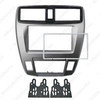 kits de tableau de bord honda achat en gros de-2DIN Radio Car Audio tableau de bord fascia Cadre pour HONDA Ville Dash Kit stéréo Ballade Plaque d'installation Frame Panel # 4930