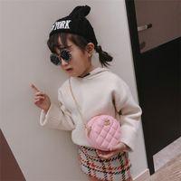 Wholesale cute messenger purse resale online - Cute Baby Bags Kids Designer Purses Girls Mini Princess Purses Pu Chain Shoulder Bags Children Lovely Diamond Check Handbags Kids Gifts