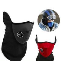 cara bufanda ciclismo al por mayor-Bicicleta Ciclismo Motocicleta Media máscara facial Invierno cálido Deporte al aire libre Máscara de esquí Cuello Guardia Bufanda Máscara caliente ZZA211